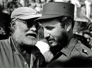 Hemmingway chats to Castro